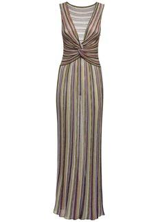 M Missoni Striped Knit Lurex Long Dress