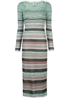 M Missoni striped knit maxi dress
