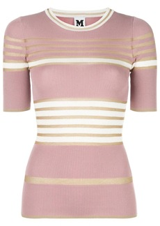 M Missoni striped-knit T-shirt