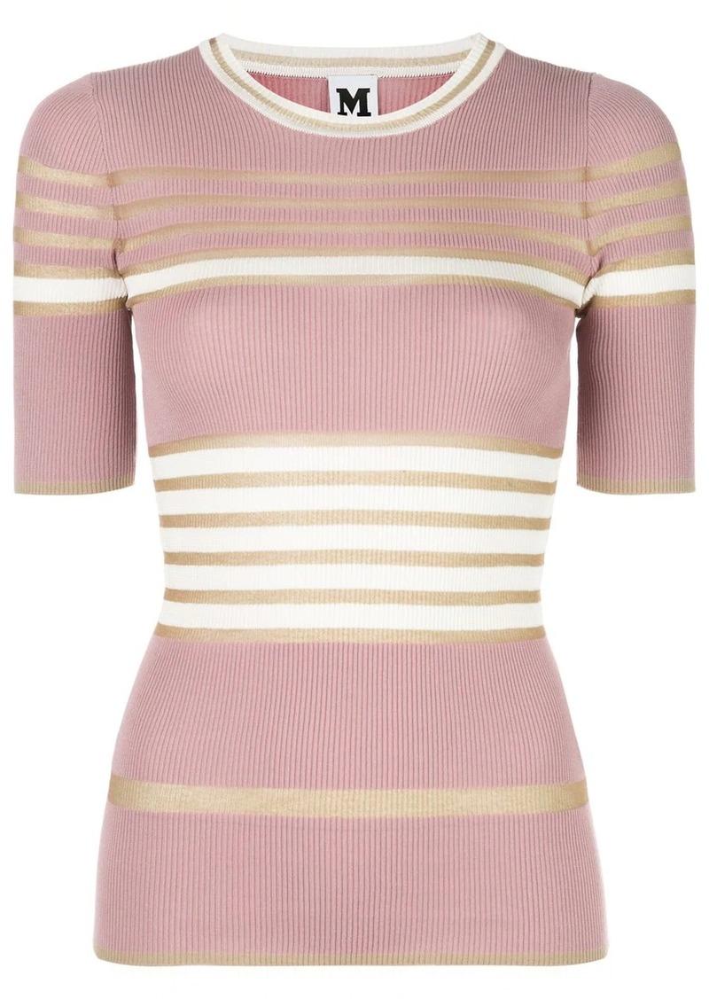 M Missoni striped-knit T-shirt