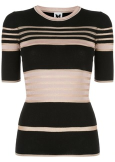 M Missoni striped-knit T-shirts