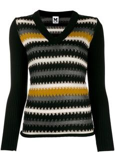 M Missoni striped knitted jumper