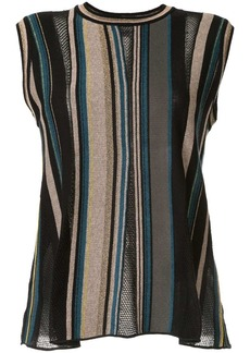 M Missoni striped knitted top