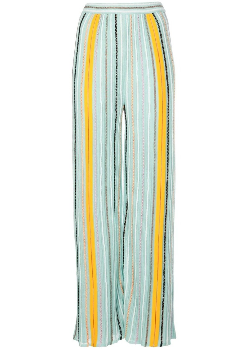 M Missoni striped loose fit trousers
