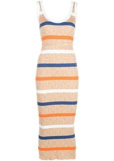 M Missoni striped ribbed-knit tank dress