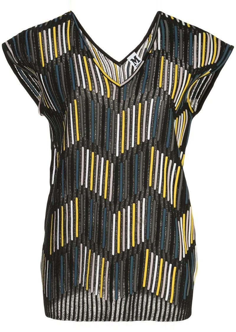 M Missoni striped v-neck T-shirt