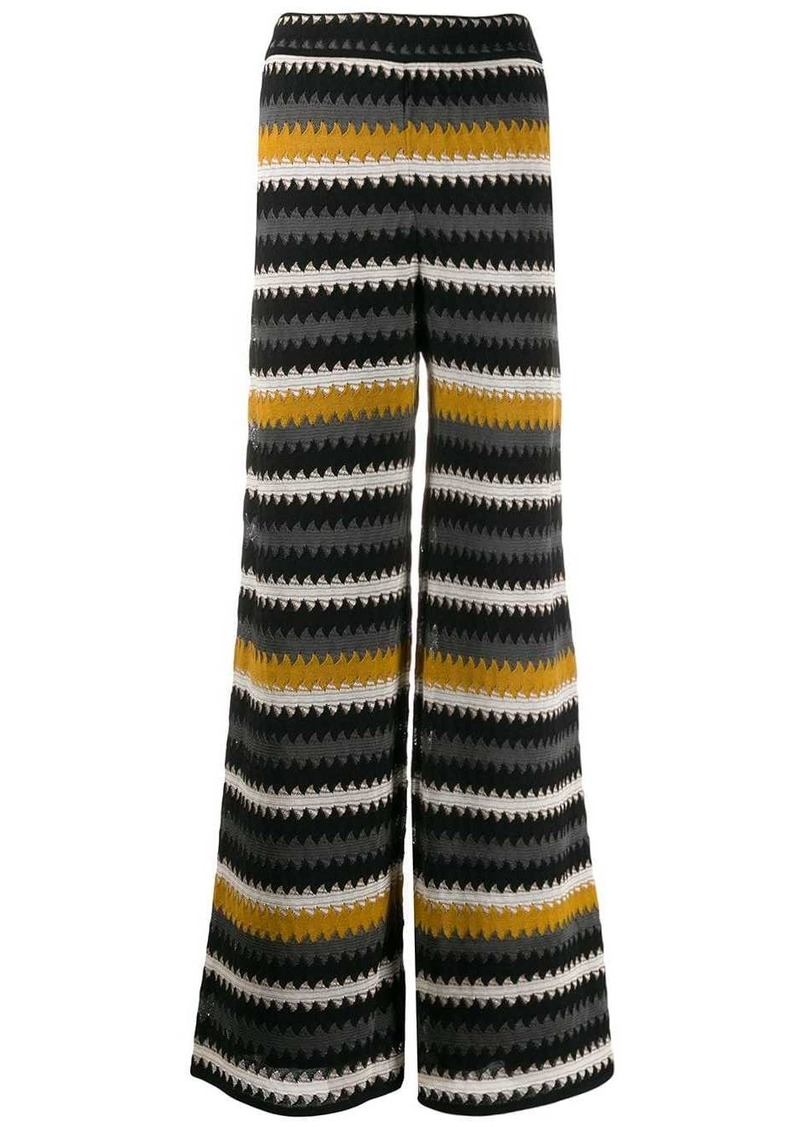 M Missoni striped wide trousers