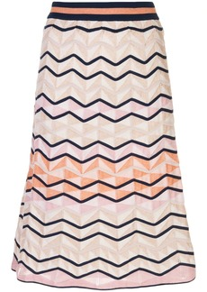 M Missoni textured-knit skirt