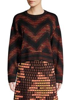 M Missoni Textured Mixed-Print Chevron Sweatshirt