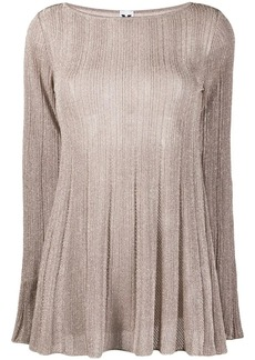 M Missoni transparent knit top