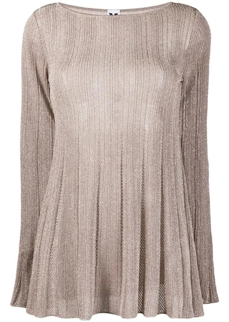 M Missoni transparent knit top