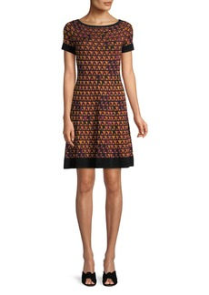 M Missoni Triangle Knit Short-Sleeve Dress