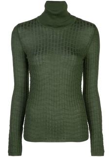 M Missoni turtleneck ribbed knit jumper