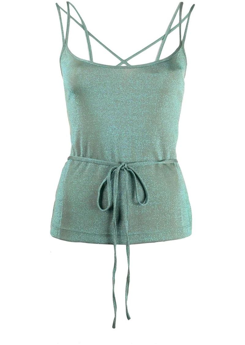 M Missoni two-tone lurex vest top