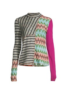 M Missoni Upcycled Mixed-Media Knit Top