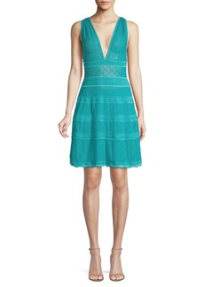 M Missoni V-Neck Knit A-Line Dress