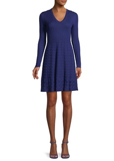 M Missoni V-Neck Solid Knit Dress