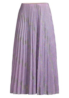 M Missoni Variegated Lurex Knit Pleated Midi Skirt