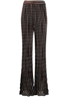 M Missoni wave-pattern flared trousers