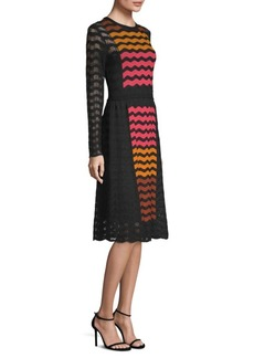 M Missoni Wave Ripple Knit Dress