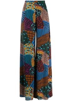 M Missoni wide-leg pattern trousers