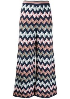 M Missoni wide-leg zigzag trousers