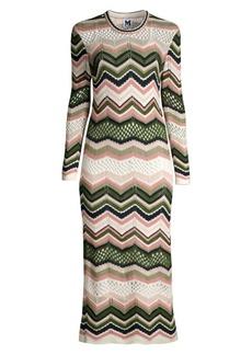 M Missoni Wool-Blend Crochet Midi Dress