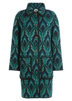 M Missoni Wool Coat with Metallic Thread