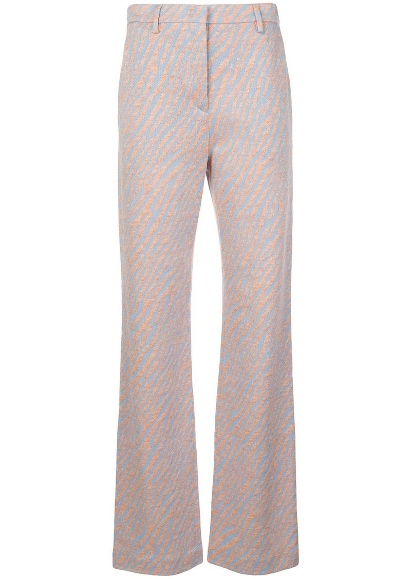 M Missoni zebra flared trousers