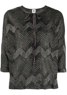M Missoni zig-zag knit boxy top