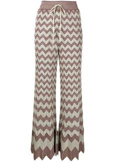 M Missoni zig-zag knit flared trousers