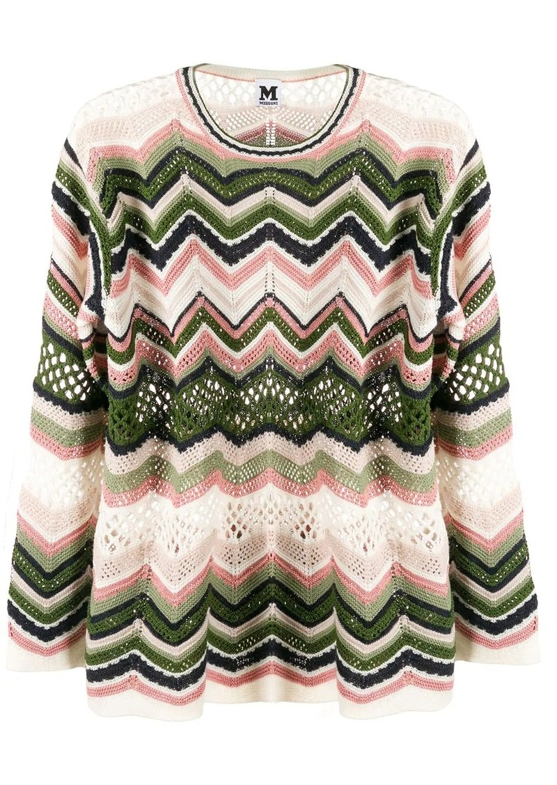 M Missoni zig-zag knit jumper