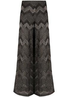 M Missoni zig-zag knit wide leg trousers