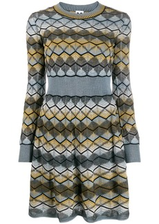 M Missoni zig-zag knitted dress