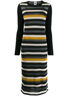 M Missoni zig zag knitted dress