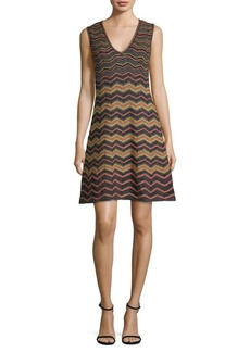 M Missoni Zig-Zag Lurex A-Line Dress