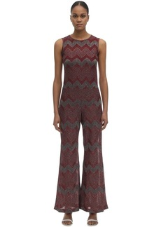 M Missoni Zig Zag Lurex Knit Jumpsuit