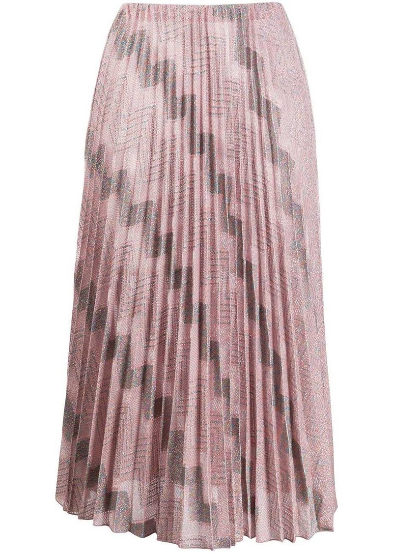M Missoni zig-zag pleated skirt