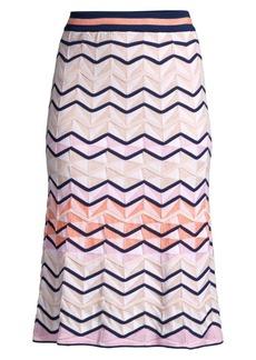 M Missoni Zig Zag Woven Midi Skirt