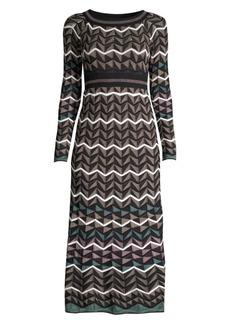 M Missoni Zigzag Chevron Knit Midi Dress