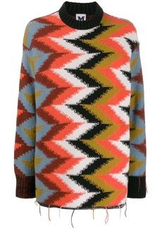 M Missoni zigzag knit jumper
