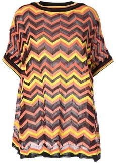9f6eb3538c8d5 M Missoni M Missoni Metallic Pleated Zigzag Striped Top