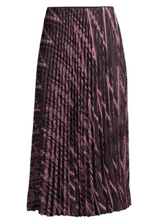 M Missoni Zigzag Lurex Knit Pleated Midi Skirt