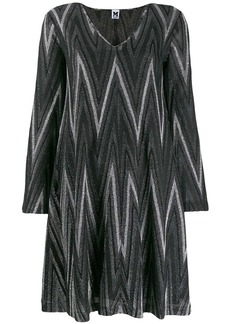 M Missoni Zigzag metallic knit dress