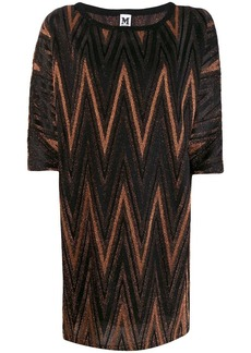 M Missoni zigzag metallic shift dress