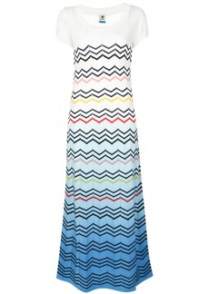 M Missoni zigzag pattern maxi dress