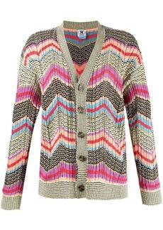 M Missoni zigzag-print knitted cardigan