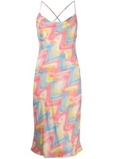 M Missoni zigzag print slip dress