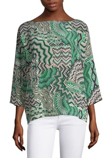 M Missoni Zigzag Silk Top