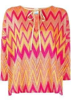 M Missoni Zigzag three-quarter blouse
